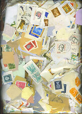 100,000+ MIXED WORLD STAMPS ON PAPER, (25kg) FREE SHIPPING