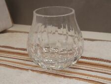 SMALL SHAPED CRYSTAL GLASS CANDLE HOLDER / POSY VASE    NO MAKER