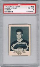 1952 Laval Dairy Subset Hockey Card Ottawa Senators Jackie Leclair Graded PSA 6