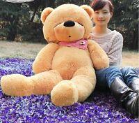 47in. Giant Big Teddy Bear  Plush Sleepy Brown Stuffed Huge Soft Toys Doll Gift