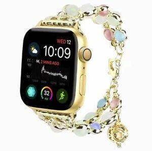 For Apple Watch Band iWatch Women Metal Strap 40mm  44mm Watch SE