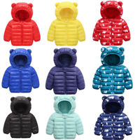 Kids girl's Hooded Down Jacket boy's winter warm Cotton Padded coat outerwear