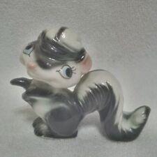 Vintage Estate Cute Signed Kreiss 1955 Skunk Porcelain Figurine