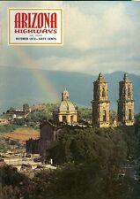 1972 Arizona Highways Magazine: Rainbow Over Taxco/Church of Santa Prisca