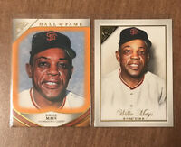 2019 Topps Gallery Willie Mays HOF Orange Parallel #d/25 + 2019 Masters Insert