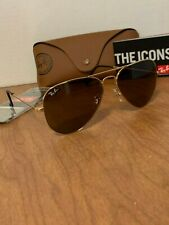 Ray-Ban RB3026 001/33 Gold Brown Classic Aviator Sunglasses 58 mm Large