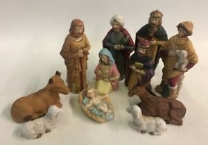 Nativity Set Midwest Importers 11 Pieces Christmas Religious Baby Jesus Manger