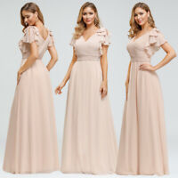 Ever-Pretty US Chiffon V-Neck Long Bridesmaid Dresses Cocktail Wedding Prom Gown