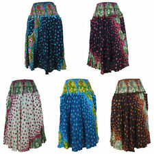 Mid-Calf Rayon Hand-wash Only Skirts for Women