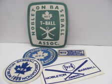 Vintage Nobleton Baseball Patches-1973/77/78/88/89