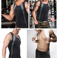 Men Waist Trainer Vest Zipper  Loss Sweat Neoprene Body Shaper Tank Top 34