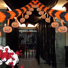 Halloween Miedo Calabaza Espeluznante Papel Guirnalda Decoración Largo 3M