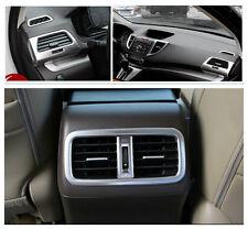Matt Front + Rear air condition vent cover trim 7pcs For Honda CRV 2012-2015
