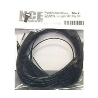 NCE 5240272 Power Drop Wire 22 Gauge 16in Black 32pk