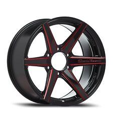 LENSO RTH 18x9 +20 6/139.7 GLOSS BLACK RED SR5,RANGER,BT50,COLORADO,DMAX,HUMMER