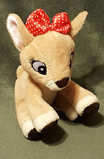 "CLARICE Rudolph The Red Nose Reindeer Plush Rattle 6"" 2015 Kids Preferred Lovey"