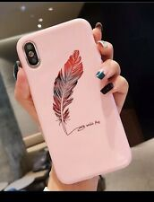 Cute Case For iPhone XS Max Shockproof TPU Slim Cover Love Feather