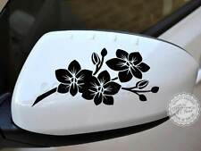 Orchid Flower Car Stickers, Wing Mirror Girly Car Graphic Decals - 16 Colours