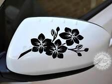 Orchidea Fiore Adesivi Auto, retrovisori Girly AUTO DECALCOMANIE GRAFICHE - 16 COLORI