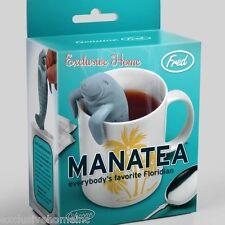 Manatea Tea Infuser Florida Manatee Loose Leaf Leaves Steeper Silicone Strainer