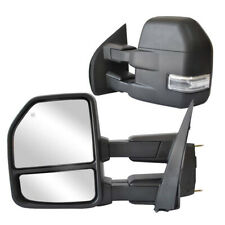 Towing Mirrors for 2015-2019 Ford F150 Pickup Power Heated Turn Signal 8 Pin