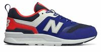 New Balance Kid's 997 Little Kids Male Shoes Blue with Red