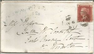 GB QV 1857 COVER PENNY RED STAR 'GH' FROM KENSINGTON TO WORCESTER 06TH JULY 1857