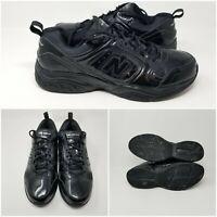 New Balance 623 Black Patent Leather Cross Walking Running Shoes Men's Sz 13 D