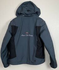 Spyder Mens Aspen Ski Racing Green Black Hooded Jacket & Vest Size Medium