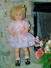 VINTAGE HORSMAN DOLL BLONDE THIRSTY WALKER 1960's 27 inches tall