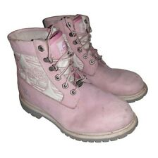 Womens Ladies Timberland Pink Boots Shoes Size UK 7.5 EU 40.5