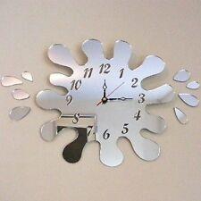 Splash Puddle Mirrored Clock