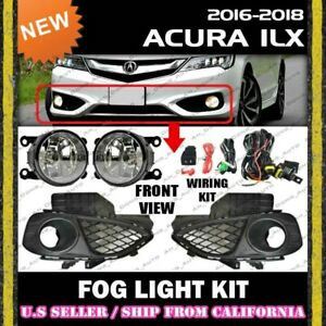 [complete] FOG LIGHT KIT for ACURA 16 17 18 ILX Driving Lamp Switch Wiring Cover
