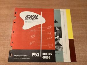 SKIL Skilsaw Corporation 1953 Buyers Guides and price catalogs MINT
