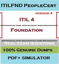 ITIL 4 Foundation v4  exam question answers and simulator