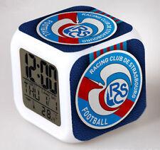 Réveil numerique RC Strasbourg Alsace à effet lumineux alarme football