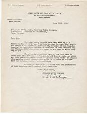 1929 Letter from Snelson Motor Co Reno NV regarding Record Auto Runs  Zeroline
