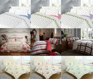 Luxury Flannelette Duvet Cover 100% Brushed  Cotton Warm Or Cosy Bedding