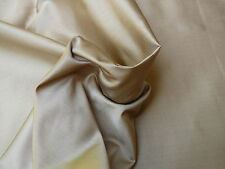 SCALAMANDRE EDEN ANTIQUE SATIN 100% SILK MOCHA GOLD SPECIAL DOUBLE-SIDED! BTY
