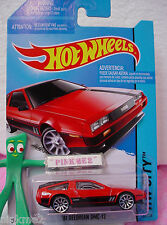 Case F/G 2014 i Hot Wheels '81 DELOREAN DMC-12 1981 #33~New RED~Speed Team