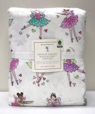 NEW Pottery Barn KIDS Organic Magical Fairy Ballerina QUEEN Sheet Set ~ FLANNEL