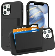 iPhone 12 / 12 Pro Max - Hybrid Credit Card ID Pocket Non-slip Holder Case Cover