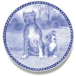 American Pit Bull Terrier - Dog Plate made in Denmark from the finest European P