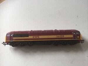 Hornby R2288A Class 56 LIGHTS Diesel Locomotive 56059 EWS OOgauge