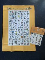 2 X PACKS OF 2 TEA TOWELS 101 THINGS TO MAKE YOU SMILE NEW TAGS.