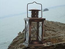Ship Rectangular Copper Lantern -Lamp - Port Side starboard Masthead Glass/ Gift
