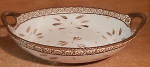 "Temptations OLD WORLD BROWN Handled Serving bowl, 13"", Excellent"