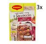 3x Maggi il Saccoccio Barbecue Gewürze in Pulverform für Schweinerippchen 34g