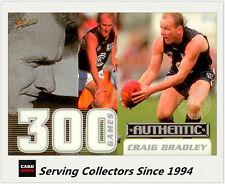 Select AFL 300 Game Case Card: 2001 Authentic CC4 Craig Bradley (Carlton)