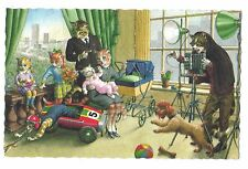 Mainzer postcard Dressed Cats family chaos photo photographer camera # 4984